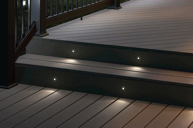 LED deck lights 316L stainless steel